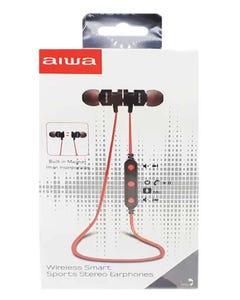 Aiwa Wireless Smart Sport Stereo Earphones-Red